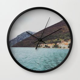 Bay of Kotor from the ferry Wall Clock