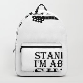 I'm About To Shred Guitar Player Musician Cool Funny Retro Backpack