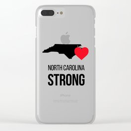 North Carolina strong / Hurricane season Clear iPhone Case