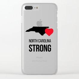 North Carolina strong / Hurricane season Clear iPhone Case