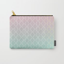 Moroccan pattern with mint, pink and gold Carry-All Pouch