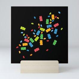 Jelly Beans & Gummy Bears Explosion Mini Art Print