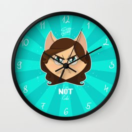 I am NOT cute (Head with text) Wall Clock