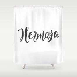 Hermosa - Hand Lettering Shower Curtain