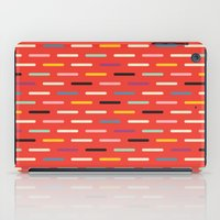 scandinavian iPad Cases featuring Modern Scandinavian Dash Red by Season of Victory