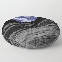 Earthrise over Compton crater Floor Pillow