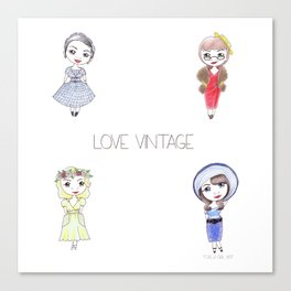 Love Vintage Canvas Print