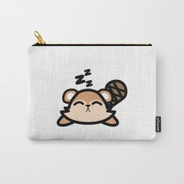 Cute Sleeping Beaver Kawaii Style Carry-All Pouch