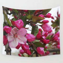 Spring blossoms - Strawberry Parfait Crabapple Wall Tapestry
