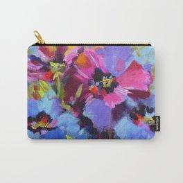 Wild Blue Poppy Garden Carry-All Pouch