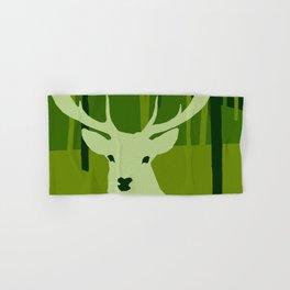 forest deer tree green nature Hand & Bath Towel