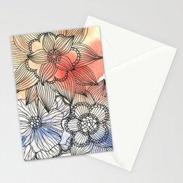flower pattern crush Stationery Cards