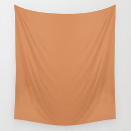 Raw Sienna - solid color Wall Tapestry
