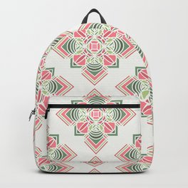 Green and pink combo pattern Backpack