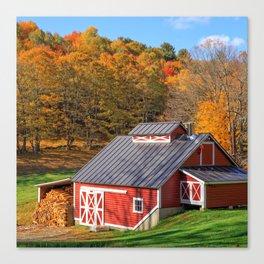 Vermont Sugar Shack Autumn Canvas Print