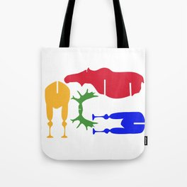 Moose Coloured Puzzle Pattern Tote Bag