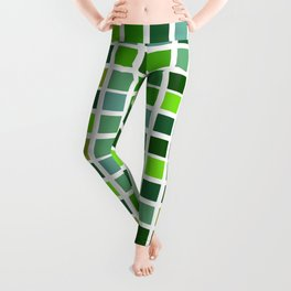 Drizzle Squares Green Edition 4 Leggings