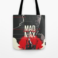 mad max Tote Bags featuring Mad Max - fury road by FourteenLab