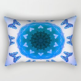 All things with wings (blue) Rectangular Pillow