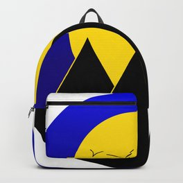 Pyramids in the night - Vector Backpack