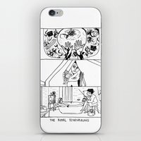 royal tenenbaums iPhone & iPod Skins featuring The Royal Tenenbaums by La Tia Pereques