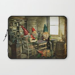 Garden Gnomes Playing Checkers Laptop Sleeve