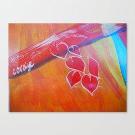 Coraje // Courage Canvas Print