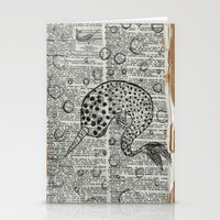 narwhal Stationery Cards featuring Narwhal by Shrone