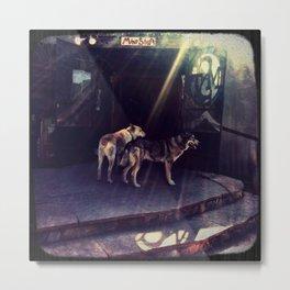 Mine Shaft dogs Metal Print