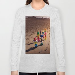 Strange Rocks - 7 Magic Mountains in Las Vegas Long Sleeve T-shirt