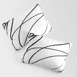 Swan, Brushed Ink Pillow Sham