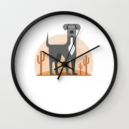 Odin of the Desert Wall Clock