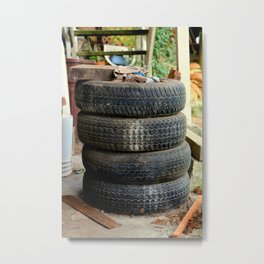 Spared Tires Metal Print