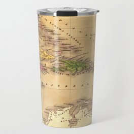 Map Of The Caribbean 1828 Travel Mug