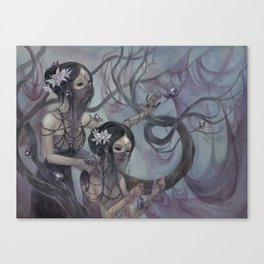 Crystal Spiders Canvas Print