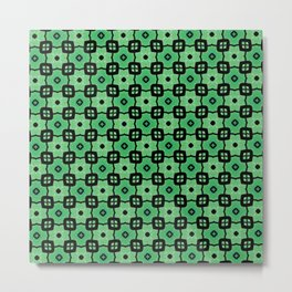 Tiled green Metal Print
