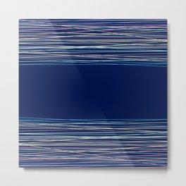 Blue thread , abstract Metal Print