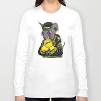 hiphop Long Sleeve T-shirts featuring Boxing Cat 3 by Tummeow