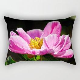 Pink Peony with Dark Background Rectangular Pillow