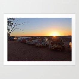 Andamooka Sunset Art Print