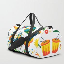Colorful Brazilian Beach Tropical Carnaval Duffle Bag