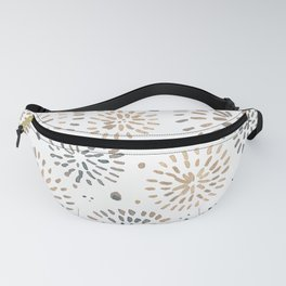 Abstract watercolor sparkles – neutral Fanny Pack