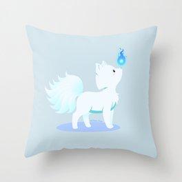 Kawaii fantasy animals - Kyuubi no Kitsune Throw Pillow