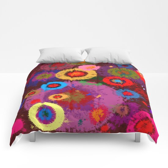 Abstract #360 Splirkles #2 Comforters