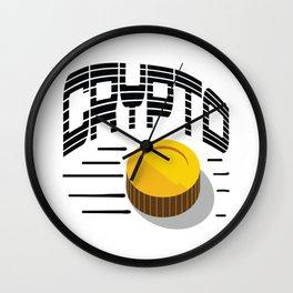 CRYPTO COIN Wall Clock