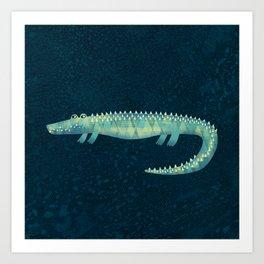 Alligator - or maybe Crocodile Art Print