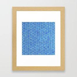 Indigo Blue Twenty Nine Framed Art Print