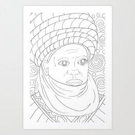 Hausa Art Print