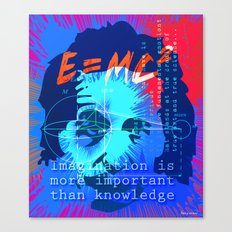 HOMAGE TO EINSTEIN Canvas Print