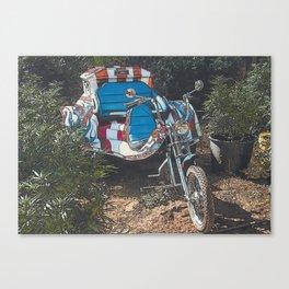 ALL AMERICAN 420 FREEDOM FIGHTER CUSTOM VW TRIKE IN MARIJUANA FIELD Canvas Print